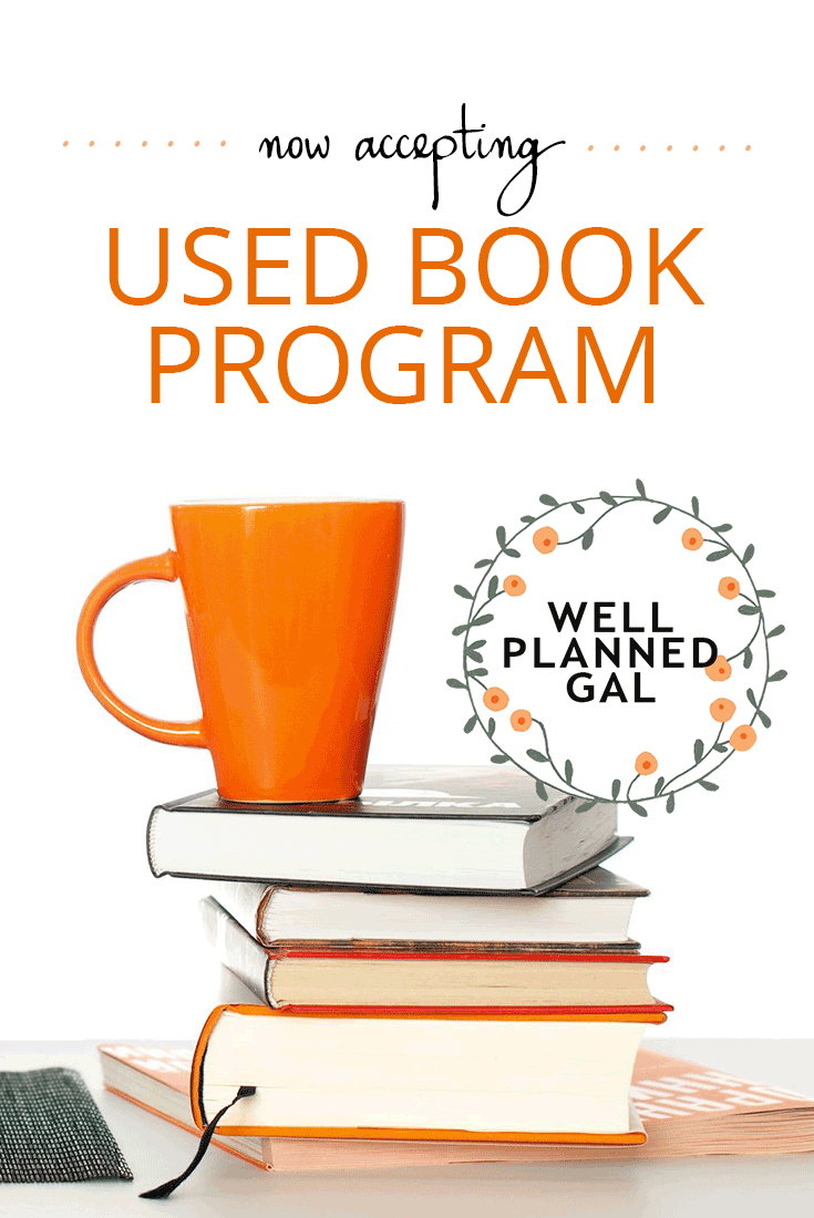 Used Book Program by Well Planned Gal
